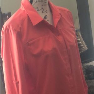 REI. L/S, lightwght, breathable, vented, coral,XL